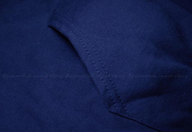 Темно-синя чоловіча класична толстовка з капюшоном
