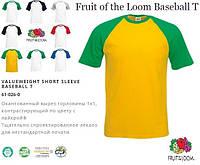 Мужская футболка Fruit of the Loom Baseball T
