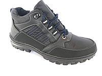 Ботинки спортивный на шнурках мужские черный Comfort - Б-21