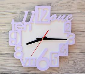 Часы настенные сиреневые English