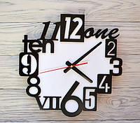 Часы настенные черно-белые English