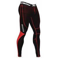 Мужские компрессионные штаны BAD BOY LEGGINGS BLACK/RED