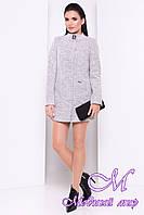 Женское светло-серое осеннее пальто (р. S, M, L) арт. Мирта шерсть №9 - 9510