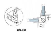 HDL-210 ПВХ ПРОФИЛЬ СТЕКЛО-СТЕКЛО МАГНИТНЫЙ (УПЛОТНИТЕЛЬ) 90 ГРАДУСОВ