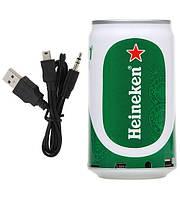 Портативная MP3 колонка от USB FM Heineken