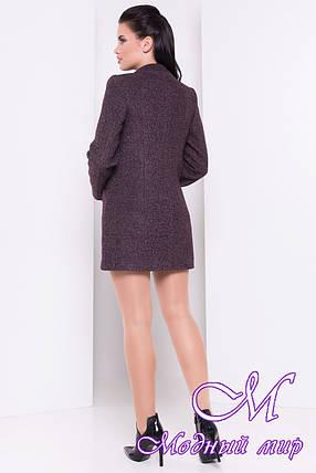 Женское шоколадное осеннее пальто (р. S, M, L) арт. Мирта шерсть №9 - 16666, фото 2