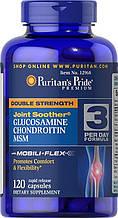 Препарат для восстановления суставов и связок, Puritan's Pride Glucosamine chondroitin MSM 120 таб