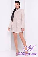 Женское бежевое осеннее пальто (р. S, M, L) арт. Мирта шерсть №9 - 9507
