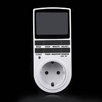 Таймер часовое TS-855 Реле времени 220В 16А с евровилкой, фото 1