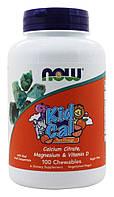 Деские витамины и минералы Кид Кал апельсин с кислинкой / NOW - Kid Cal Orange (100 Chewables)