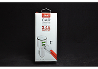 Автомобильная зарядка LDNIO 2USB 3.4A DL-C29+ USB cable micro