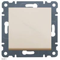 Выключатель 1-полюсный Lumina-2, крем, 10АХ/230В Hager WL0011