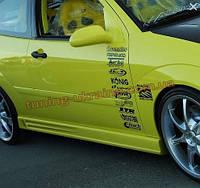 Накладки на пороги универсальные №6 из стеклопластика на Chevrolet Cruze 2008-2012 седан