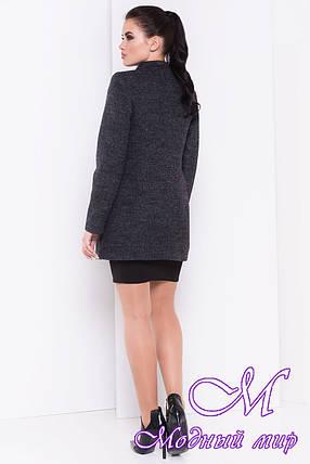Женское темно-серое осеннее пальто (р. S, M, L) арт. Мирта шерсть №9 - 16667, фото 2
