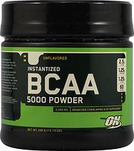 БЦАА, Optimum Nutrition, BCAA 5000 Powder, 350 грам, 60 порц