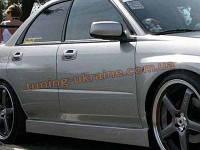 Накладки на пороги универсальные №7 из стеклопластика на Chevrolet Cruze 2008-2012 седан