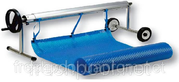Сматывающее устройство - роллета для накрытия бассейна. 2,7-4,4 м На колесах и стойке.