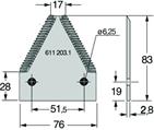 Сегмент ножа жатки Claas 6112031, 611203.1, Н066.32, 580223621, 676234.1, 6762341, фото 2