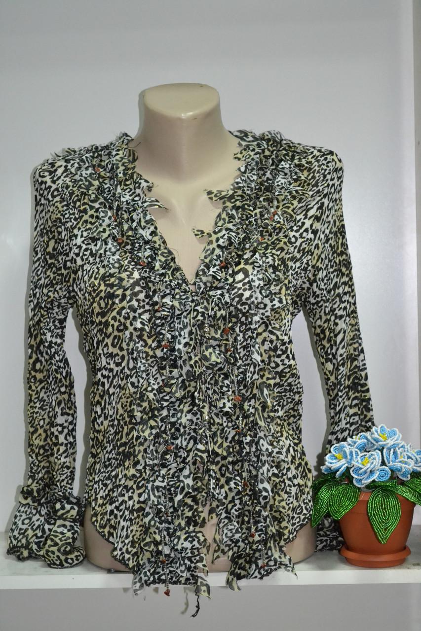 Шифоновая блуза с длинным рукавом, фото 1