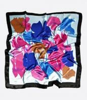 :Платки:Шелк+Полиэстер:Платок с цветочным принтом, арт. #68_17