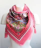 :Платки:Платки из Вискозы:Красочный платок, арт. С128_лосось