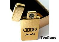 """Электроимпульсная зажигалка USB """"AUDI"""" hd"""