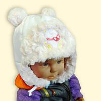"""Тёплая шапочка для малышки """"МИШКА"""""""