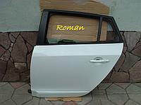 Дверь Рено Меган 3 дверь задняя левая бел. мет. универсал