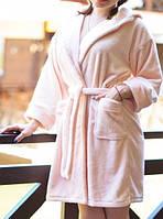 Однотонный махровый халат для женщин