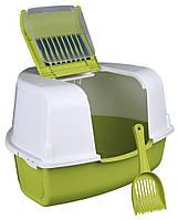 Туалет Trixie Tadeo Open Top Corner Litter Tray для кошек угловой, с фильтром и лопаткой, 58×38×50 с