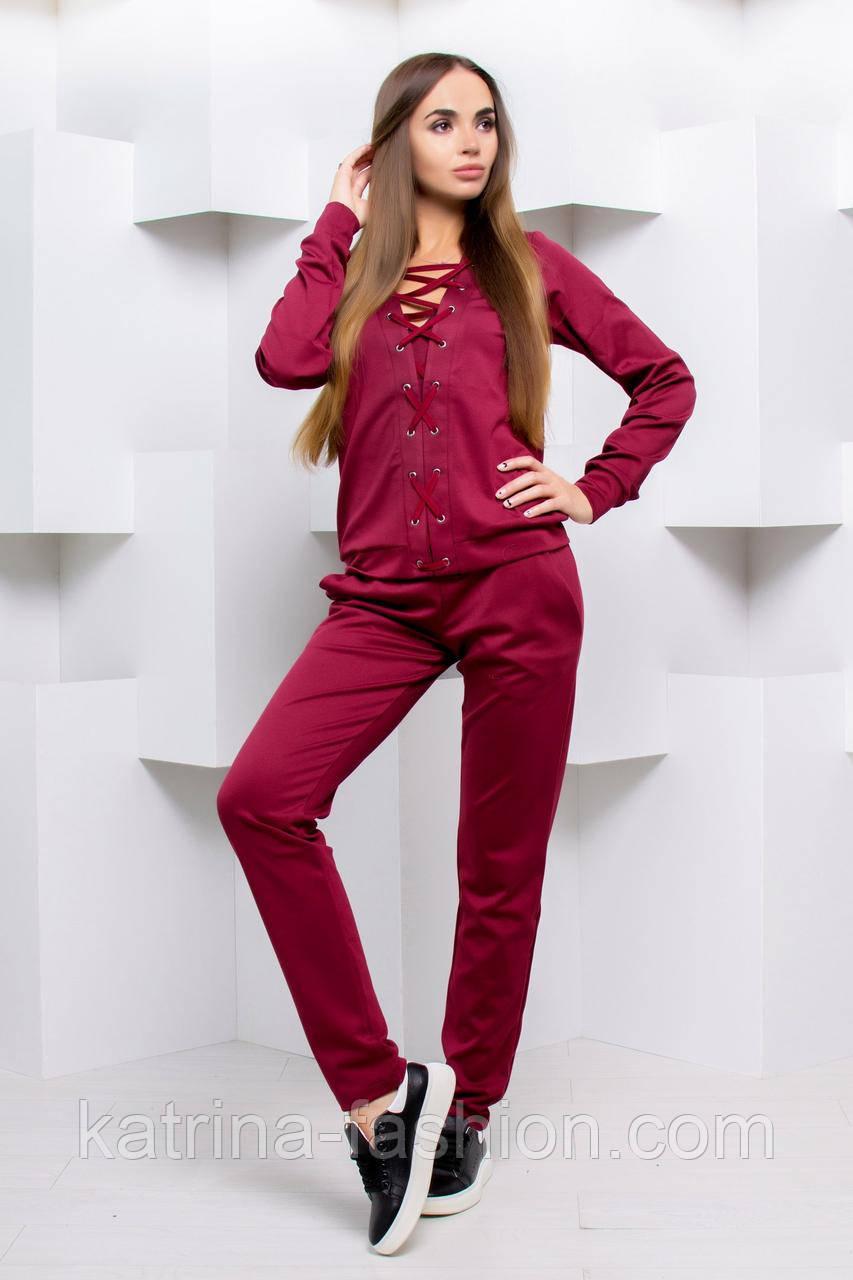 Женский спортивный/повседневый костюм со шнуровкой (5 цветов)