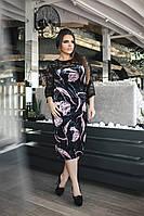 Бархатное коктейльное платье 03575