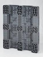 Универсальный перфорированный пластиковый поддон на трех лыжах 1200х1000х150 мм (02.103.91.С3.Q) серый