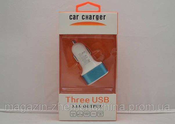 Автомобильная USB зарядка 3IN1, фото 2