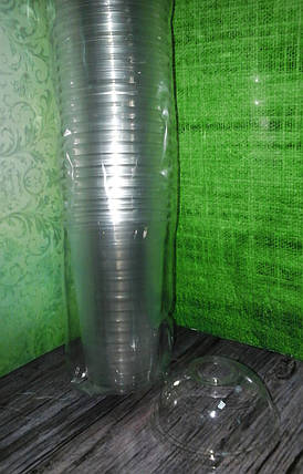 Пластиковая куполообразная крышка ПЕТ с отверстием под соломку, фото 2
