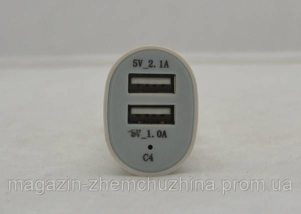 Автомобильная USB зарядка на 2 выхода, фото 2