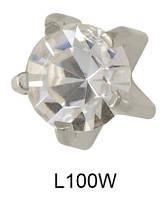 Серьги для прокола мочки уха L100W Циркон без напыления