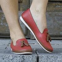 Туфли кожаные tr6079kirmizi