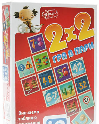 Настільна гра IQ 2х2 Гра в пари. ГРАННА, фото 2