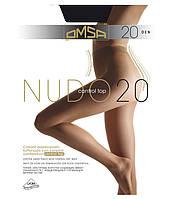 Колготки OMSA NUDO 20 control top, утягивающие без шортиков