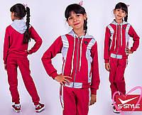 Детский спортивный костюм трикотажный двунитка на молнии