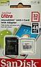 карта памяти микро SDHC SanDisk 32 гб Ultra UHS-1 класс 10 с адаптером