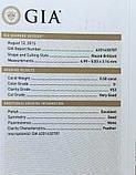 Бриллиант натуральный природный 5 мм 0,5 Кт VS2/G сертификат GIA 1760$, фото 2