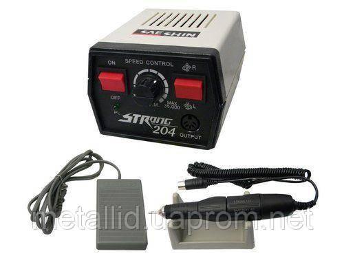 Аппарат для профессионального использования Strong 204, фрезер для маникюра 65Вт,оригинал