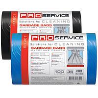 Мусорный пакет Pro Service черный 50x55 см 35 л 100шт (16112800)