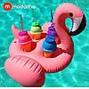 Modarina Надувной подстаканник фламинго на 4 стаканчика