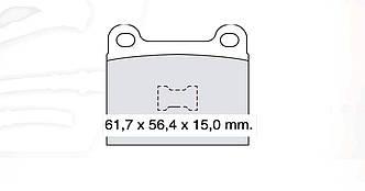 DBB 017.00 Тормозные колодки (передние) VW 891698151, AUDI 861698151