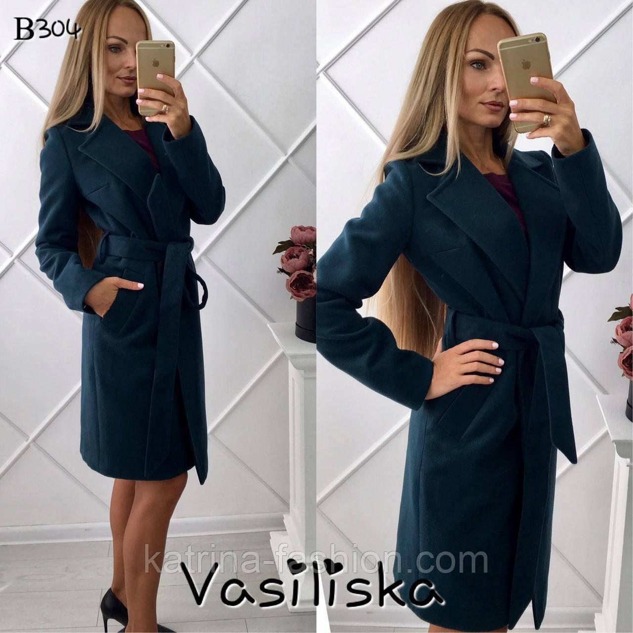 3ed314ca0dc Женское кашемировое пальто с подскладкой на запах (длина до колен и ниже  колен) -