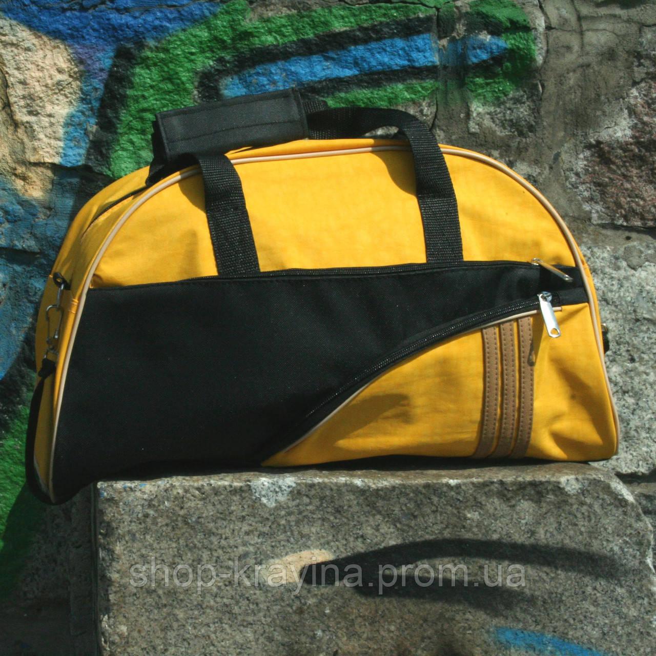 Женская сумка для спорта, 28*43*15 см, желтая