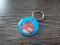Заготовка-брелок для домофона RFID 5577 перезаписываемая Angry Birds